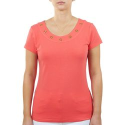 Hearts of Palm Womens Rings Scoop Neck Top