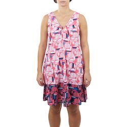 Hearts of Palm Womens Abstract Sun Dress