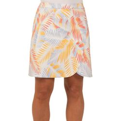 Hearts of Palm Womens Palm Frond Faux Wrap High Rise Skirt