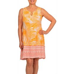 Hearts of Palm Womens Embellished Round Neck Dress