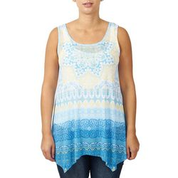 Hearts of Palm Womens Sleeveless Shark Bite Top
