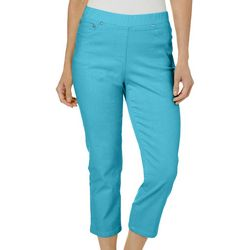 Hearts of Palm Womens Blue Me Away Solid Capris