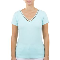 Hearts of Palm Womens Double Straped Neckline Top