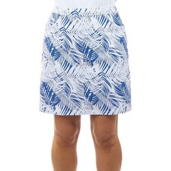 Hearts of Palm Womens Palm Leaves Stretch Skort