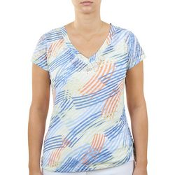 Hearts of Palm Womens Asymmetrical Hemline Top