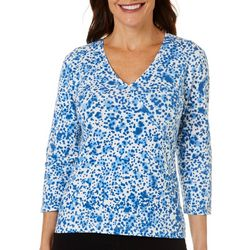 Hearts of Palm Womens Printed Essentials Dot Top