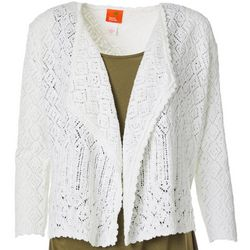 Hearts of Palm Womens Blue Genie Knit Cardigan