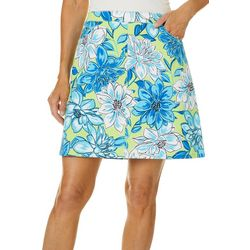 Hearts of Palm Womens In The Limelight Floral Stretch Skort