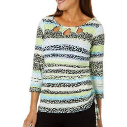 Womens In The Limelight Triple Keyhole Top
