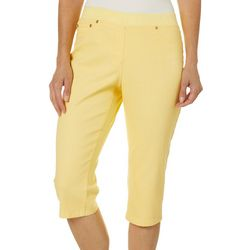 Hearts of Palm Womens Citrus Blast Crop Jeggings