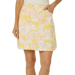 Hearts of Palm Womens Citrus Blast Tropical Floral Skort