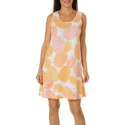Hearts of Palm Womens Citrus Blast Tropical Dress