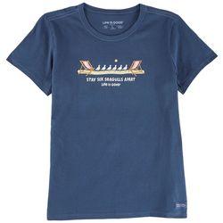 Life Is Good Womens Seagulls Distance T-Shirt