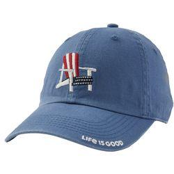 Life Is Good Womens Americana Embroidered Baseball Cap