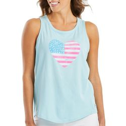 Life Is Good Womens Americana Heart Crusher Tank