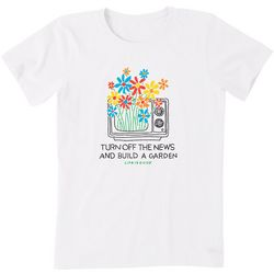 Life Is Good Womens Garden Crusher T-Shirt