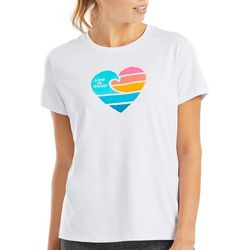 Life Is Good Womens Wave Heart T-Shirt