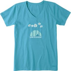 Life Is Good Womens Towering Daisies Crusher T-Shirt