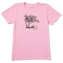 Life Is Good Womens Happy Hour Sunset Crusher T-Shirt