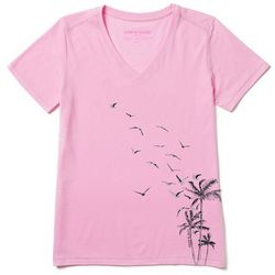 Life Is Good Womens Flight From Palms Cool T-Shirt