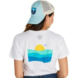 Life Is Good Womens Ocean Waves Crusher T-Shirt