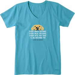 Life Is Good Womens I'll Be Watching You Crusher T-Shirt