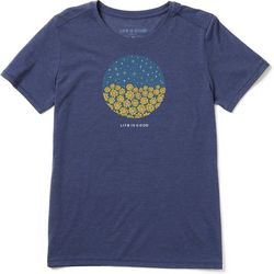 Life Is Good Womens Sunflower Stars Crusher T-Shirt