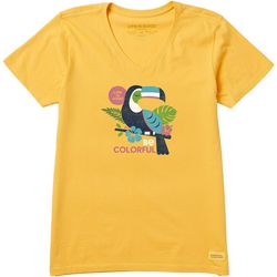 Life Is Good Womens Colorful Toucan Crusher T-Shirt