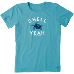 Life Is Good Womens Shell Yeah Crusher T-Shirt