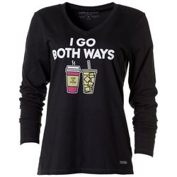 Life Is Good Womens Coffee Crusher Long Sleeve