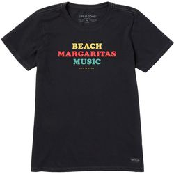 Life Is Good Womens Beach Margaritas Music Crusher