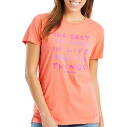 Life Is Good Womens Best Things In Life Crusher T-Shirt