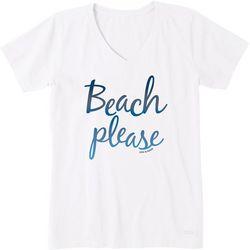 Life Is Good Womens Beach Please T-Shirt