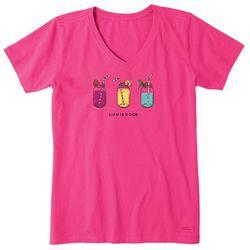 Life Is Good Womens Refreshing Jars T-Shirt