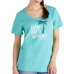 Life Is Good Womens Everyday is Saturday T-Shirt
