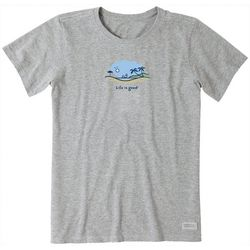 Life Is Good Womens Windsurf Vista T-Shirt