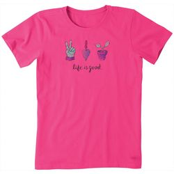 Life Is Good Womens Peace Love Garden T-Shirt