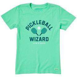 Life Is Good Womens Pickleball Wizard T-Shirt