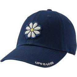 Life Is Good Womens Frayed Daisy Basecall Cap