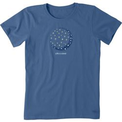 Life Is Good Womens Moon & Stars T-Shirt