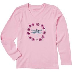 Life Is Good Womens Long Sleeve Dragonfly T-shirt