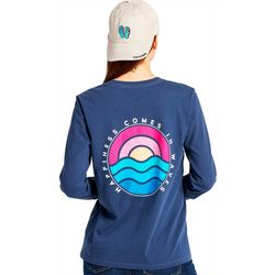 Life Is Good Womens In Waves Crusher Long Sleeve T-Shirt