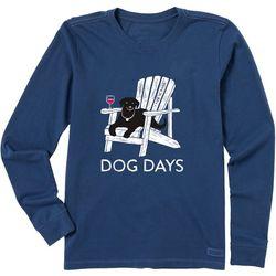Life Is Good Womens Dog Days Crusher Long Sleeve T-Shirt