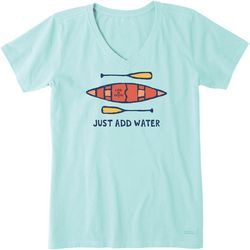Life Is Good Womens Just Add Water T-Shirt