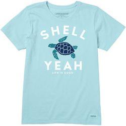 Life Is Good Womens Shell Yeah Crusher T-Shirt