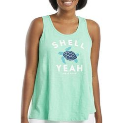 Life Is Good Womens Shell Yeah Textured Tank