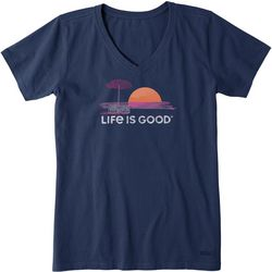 Life Is Good Womens Cool Short Sleeve T-Shirt