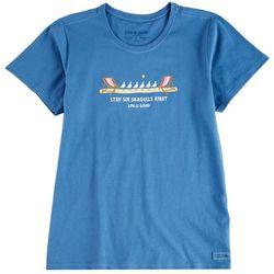 Life Is Good Womens Stay Six Seagulls Appart T-Shirt