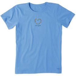 Life Is Good Womens Shell Heart T-Shirt