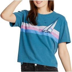 Life Is Good Womens Rainbow Sail Boxy Crusher T-Shirt